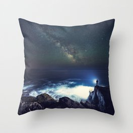 Searching the Stars Throw Pillow