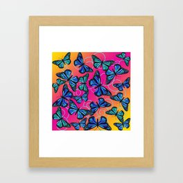 Cool Monarchs at Sunset Framed Art Print