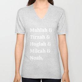 Team Daughters of Zelophehad! Inspiring Biblical Women Unisex V-Neck