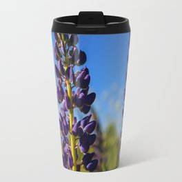 Purple lupines in a Sunny day Travel Mug
