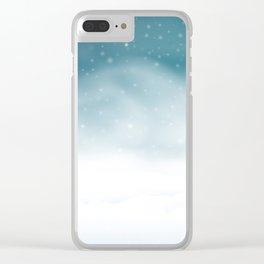 Winter night scene Clear iPhone Case