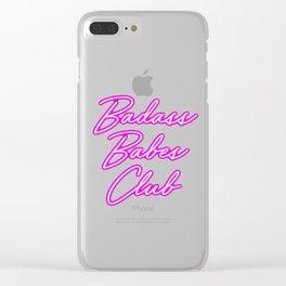 Badass Babes Club Clear iPhone Case