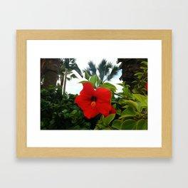 Beachy Flower Framed Art Print