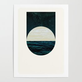 Nocturne Water & Air, Circle & Square Poster