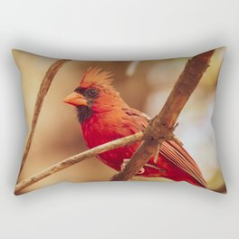 Male Northern Cardinal Rectangular Pillow
