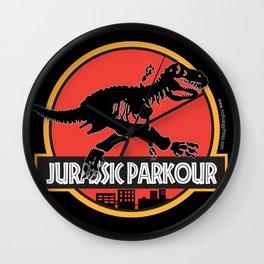 Jurassic Parkour Wall Clock