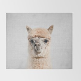 Alpaca - Colorful Throw Blanket