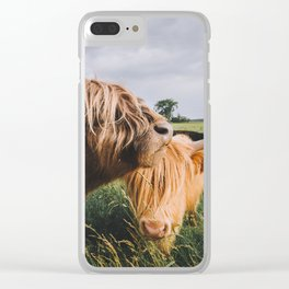 Highland Cows II Clear iPhone Case