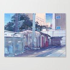 Tokyo Bus Depot Canvas Print