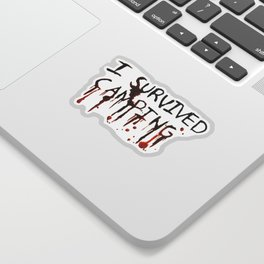 I Survived Camping Sticker