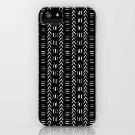 Mudcloth No.2 in Black + White iPhone Case