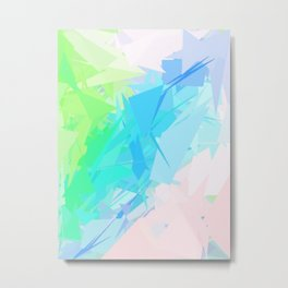 Island Paradise Pastel Abstract Metal Print