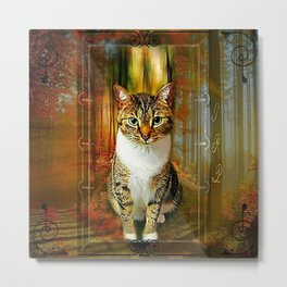 Cat Models: Wanda 01-02 Metal Print