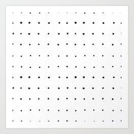 Dot Grid Black and White Art Print