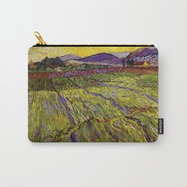 Landscape with Ploughed Fields by Vincent van Gogh Carry-All Pouch