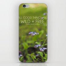 wild + free. iPhone & iPod Skin