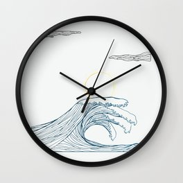 ring of the waves Wall Clock