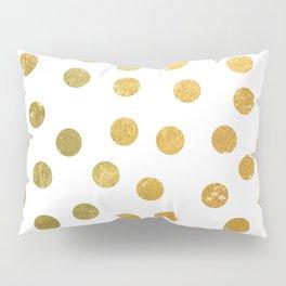 NL 8 4 Gold Polka Dots Pillow Sham