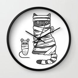 Mummy Cat & Mummy Mouse – Silent Horror Wall Clock