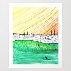 Sunset Session Art Print