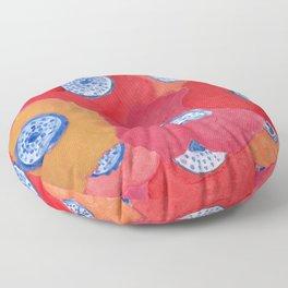 Hippy flowers watercolor Floor Pillow