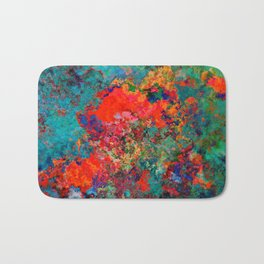 red poppies fantasy Bath Mat