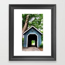 Blue Tunnel Framed Art Print