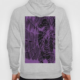 Intricate Halloween Spider Web Purple Palette Hoody