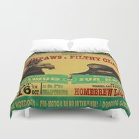 boxing Duvet Covers featuring Boxing Poster by EverEvolvingEpithet