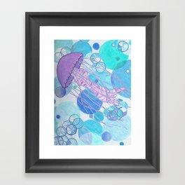 Seen More Spine in Jellyfish Framed Art Print