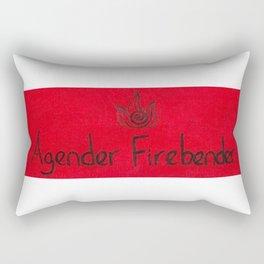 Agender (fire) Rectangular Pillow