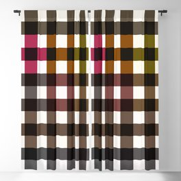 Colorful Checker 02 Blackout Curtain