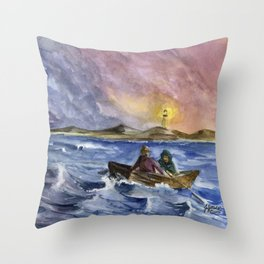 Storm Chased Throw Pillow
