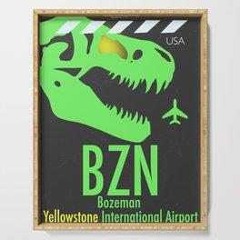 BZN Bozeman Yellowstone airport code Serving Tray