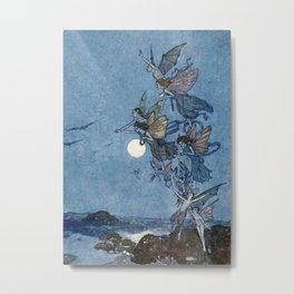 """Elves"" Fairy Tale Art by Edmund Dulac Metal Print"