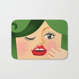 Lola Green Bath Mat