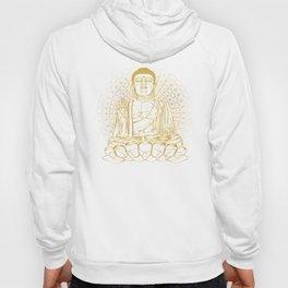 Golden Buddha on Black Hoody