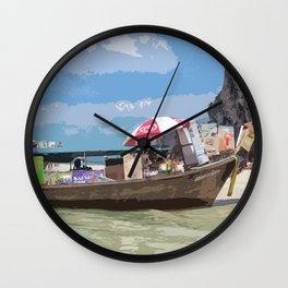 Thai Long Boat Wall Clock