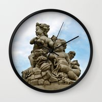 angels Wall Clocks featuring Angels by Design Windmill