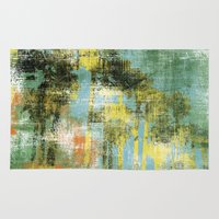 palms Area & Throw Rugs featuring Palms by Alan Dubrovo