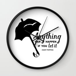 Anything Can Happen If You Let It Wall Clock