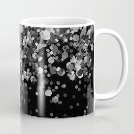 Silver Gray Black Glitter #3 (Faux Glitter - Photography) #shiny #decor #art #society6 Coffee Mug