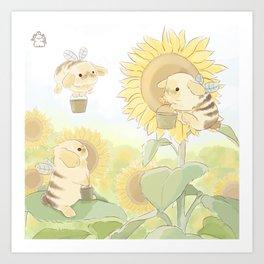 Bunblebees Art Print
