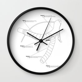 Drop Bars Wall Clock