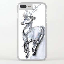Buck, Watercolor Clear iPhone Case
