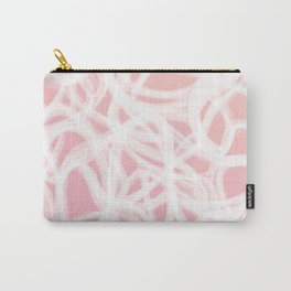 brushstrokes // pink & white Carry-All Pouch