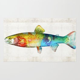 Rainbow Trout Art by Sharon Cummings Rug