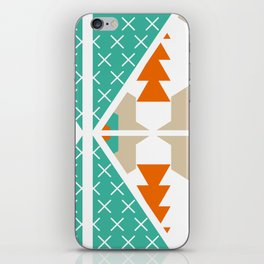 Winter shapes iPhone Skin