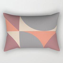 Mid Century Modern Geometric Abstract 238 Rectangular Pillow