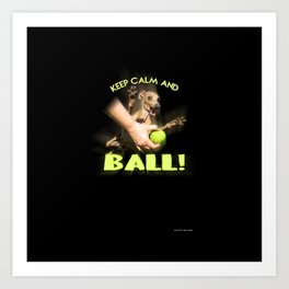 Ball crazed Movitz Art Print